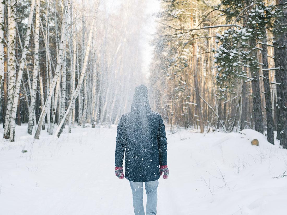 Snowing path