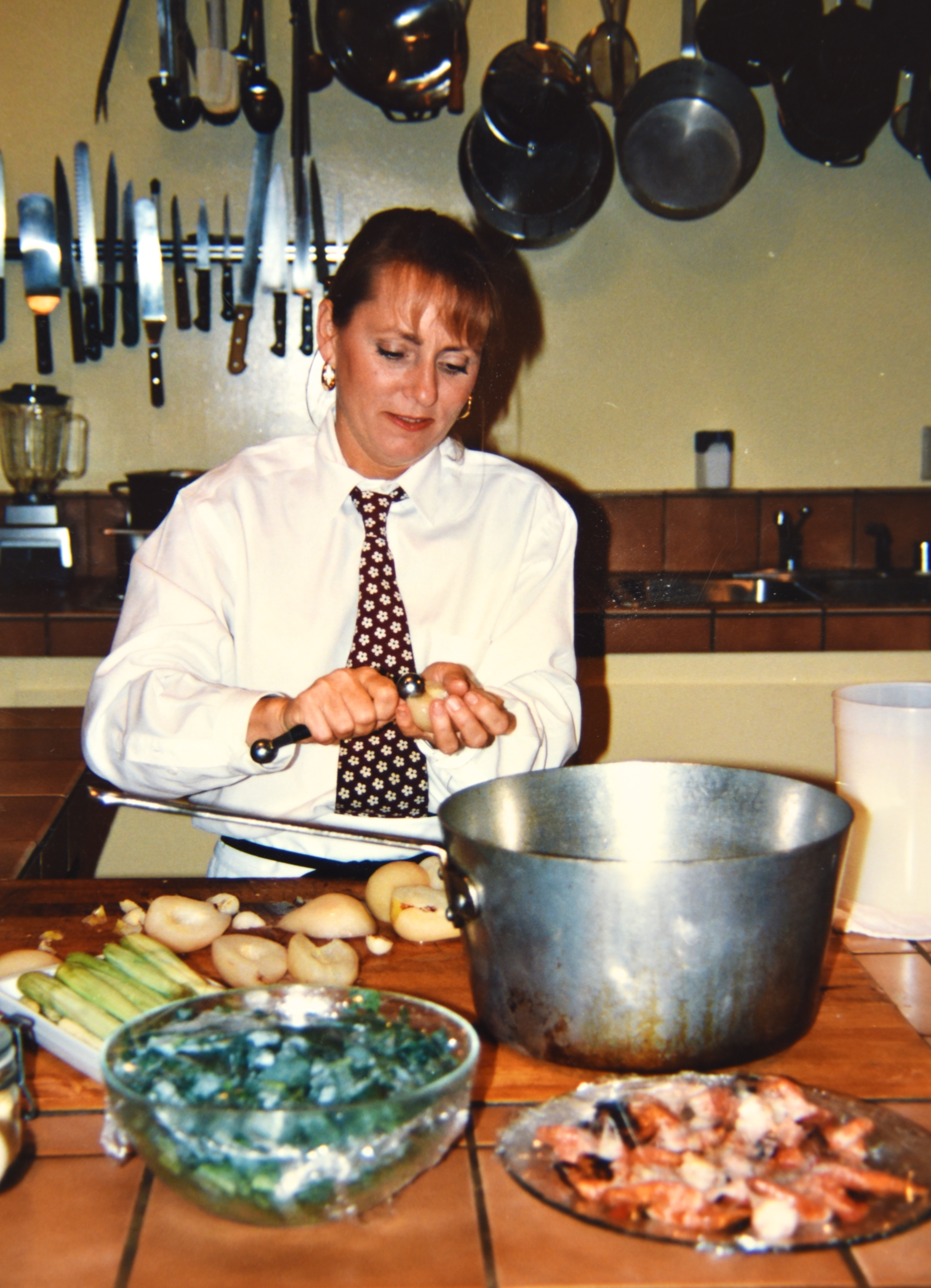 Chef/Owner Nancy Zimmer at the original Kitchen location on Marconi Avenue