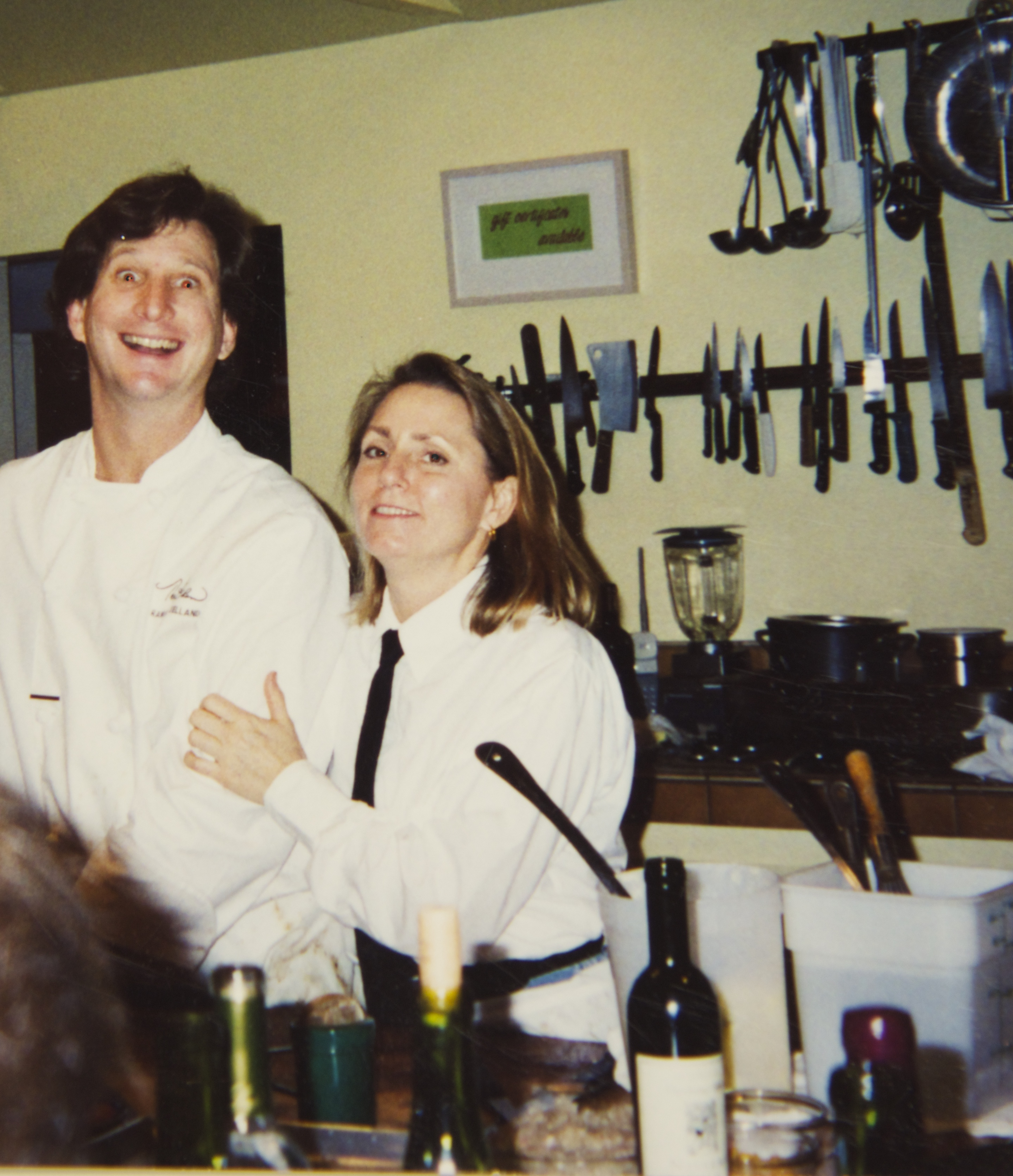 Chefs/Owners Randall Selland and Nancy Zimmer at the original Kitchen location